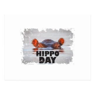 Hippo Day - 15th February - Appreciation Day Postcard