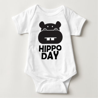 Hippo Day - 15th February Baby Bodysuit