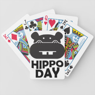 Hippo Day - 15th February Bicycle Playing Cards