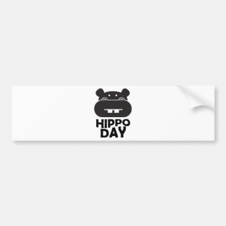 Hippo Day - 15th February Bumper Sticker