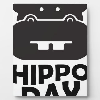Hippo Day - 15th February Plaque
