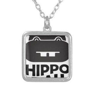 Hippo Day - 15th February Silver Plated Necklace