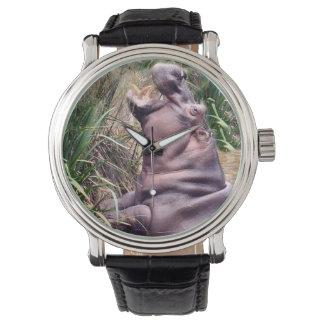 Hippo_Determination_Mens_Leather_Vintage_Watch Watch