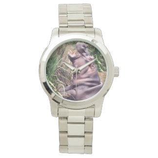 Hippo_Determination_Unisex_Large_Silver_Watch Watch