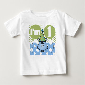 Hippo First Birthday Baby T-Shirt
