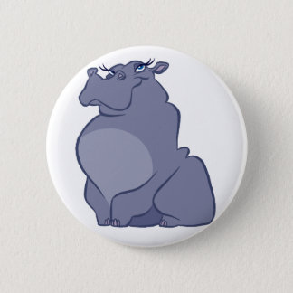 Hippo For Christmas 2 Inch Round Button