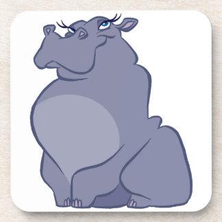 Hippo For Christmas Coaster