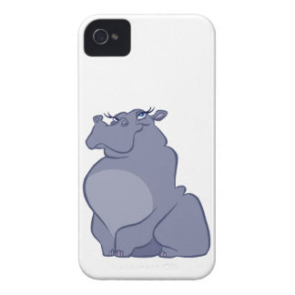 Hippo For Christmas iPhone 4 Case