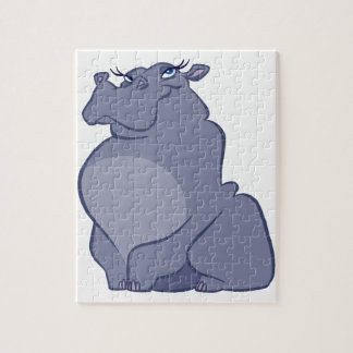 Hippo For Christmas Jigsaw Puzzle