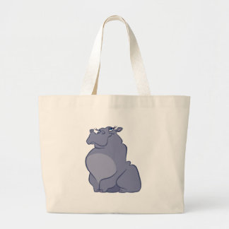 Hippo For Christmas Large Tote Bag