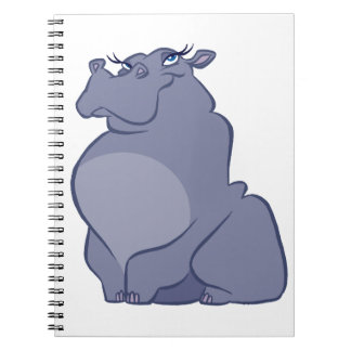 Hippo For Christmas Notebook