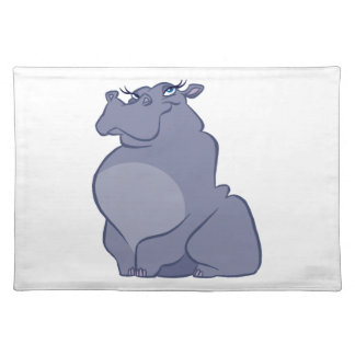 Hippo For Christmas Placemat
