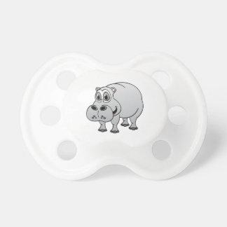 Hippo Grey Cartoon Baby Pacifiers