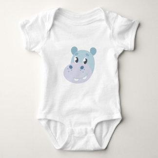 Hippo Head Baby Bodysuit