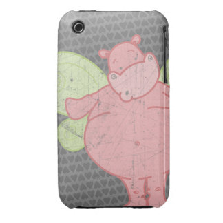 Hippo Heart Butterfly Case iPhone 3 Case-Mate Cases