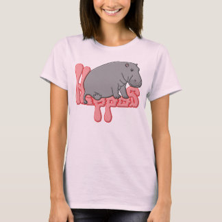 Hippo Heavy - Pink T-Shirt