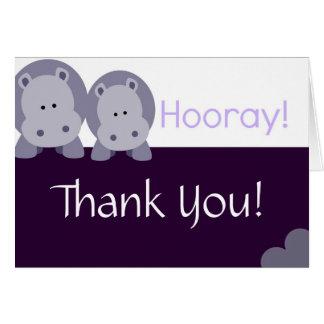 Hippo Hippo Hooray! Card
