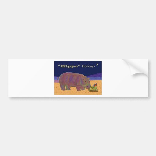 Hippo Holidays Bumper Stickers