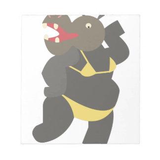 Hippo In Bikini Notepad