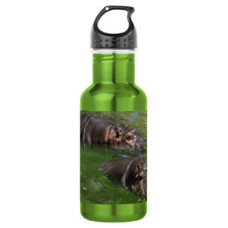 Hippo_In_The_Pond_Reusable_Apple_Water_Bottle.
