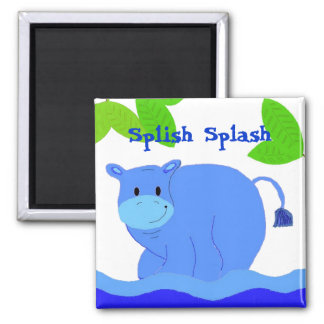 Hippo in the Pool Magnet