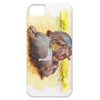 Hippo in the sun iPhone 5 cover