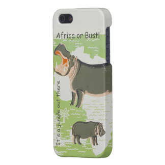 Hippo It's A Jungle Out There iPhone Case iPhone 5/5S Cases