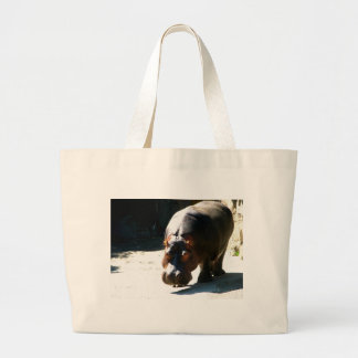 Hippo Large Tote Bag