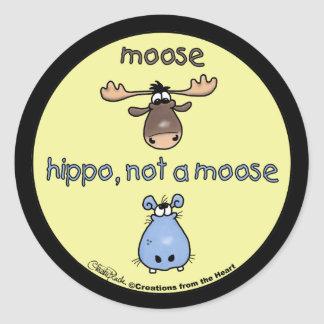 Hippo-not-a-moose! Stickers
