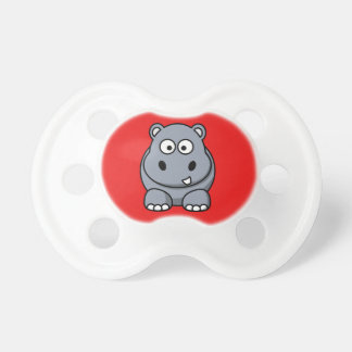 Hippo on a Red Background Pacifiers