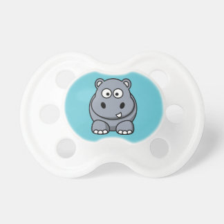 Hippo on an Aqua Background Baby Pacifier