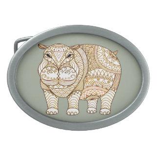 Hippo Oval Belt Buckles