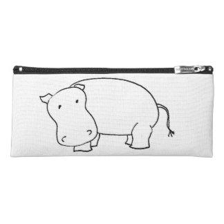 Hippo pencil case