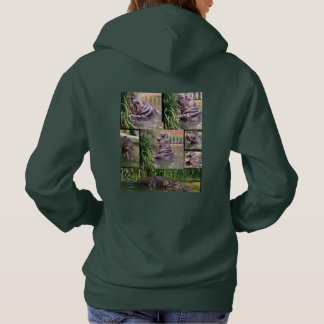 Hippo Photo Collage, Hoodie