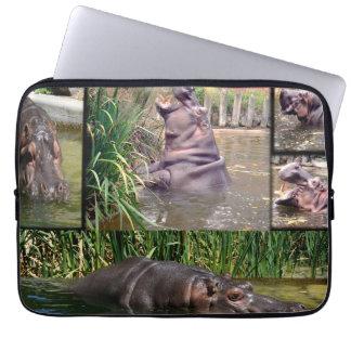 Hippo Photo Collage, Laptop Sleeve