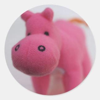 Hippo Round Sticker