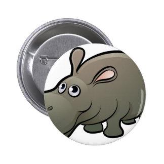 Hippo Safari Animals Cartoon Character 2 Inch Round Button