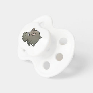 Hippo Safari Animals Cartoon Character Baby Pacifier