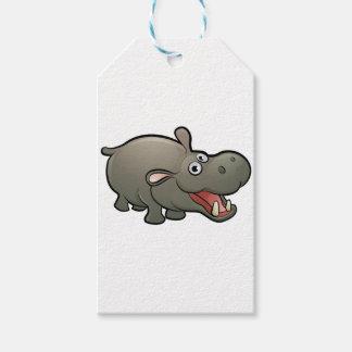 Hippo Safari Animals Cartoon Character Gift Tags