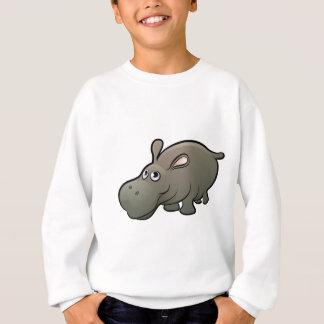 Hippo Safari Animals Cartoon Character Sweatshirt
