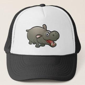 Hippo Safari Animals Cartoon Character Trucker Hat