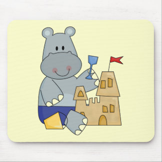 Hippo Sand Castle T-shirts and Gifts Mouse Pad