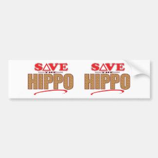 Hippo Save Bumper Sticker