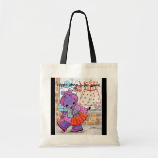 Hippo Shopping-Hippo shop-a-lot amus! Tote Bag