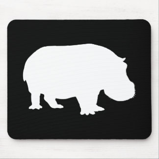 Hippo Silhouette Mouse Pad