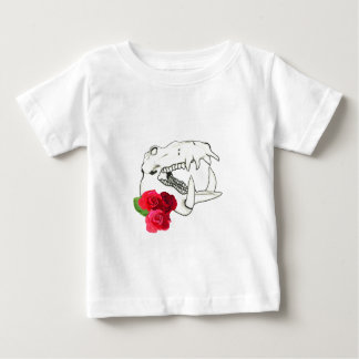 Hippo Skull with Roses Baby T-Shirt