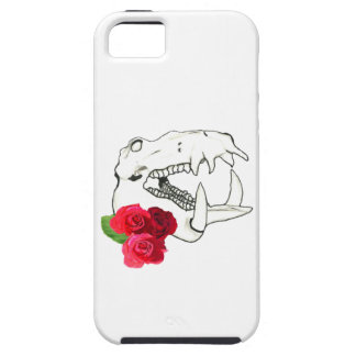Hippo Skull with Roses iPhone 5 Case