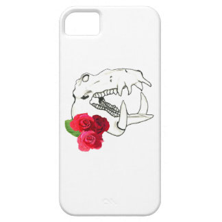 Hippo Skull with Roses iPhone 5 Cases