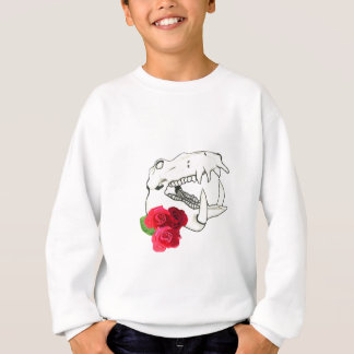 Hippo Skull with Roses Sweatshirt