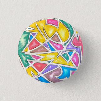 Hippo Star - Abstract Art Button